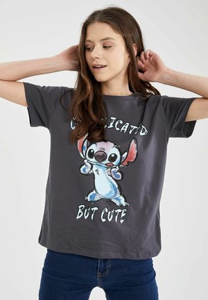 DISNEY LILO & STITCH - T-shirt con stampa - anthracite