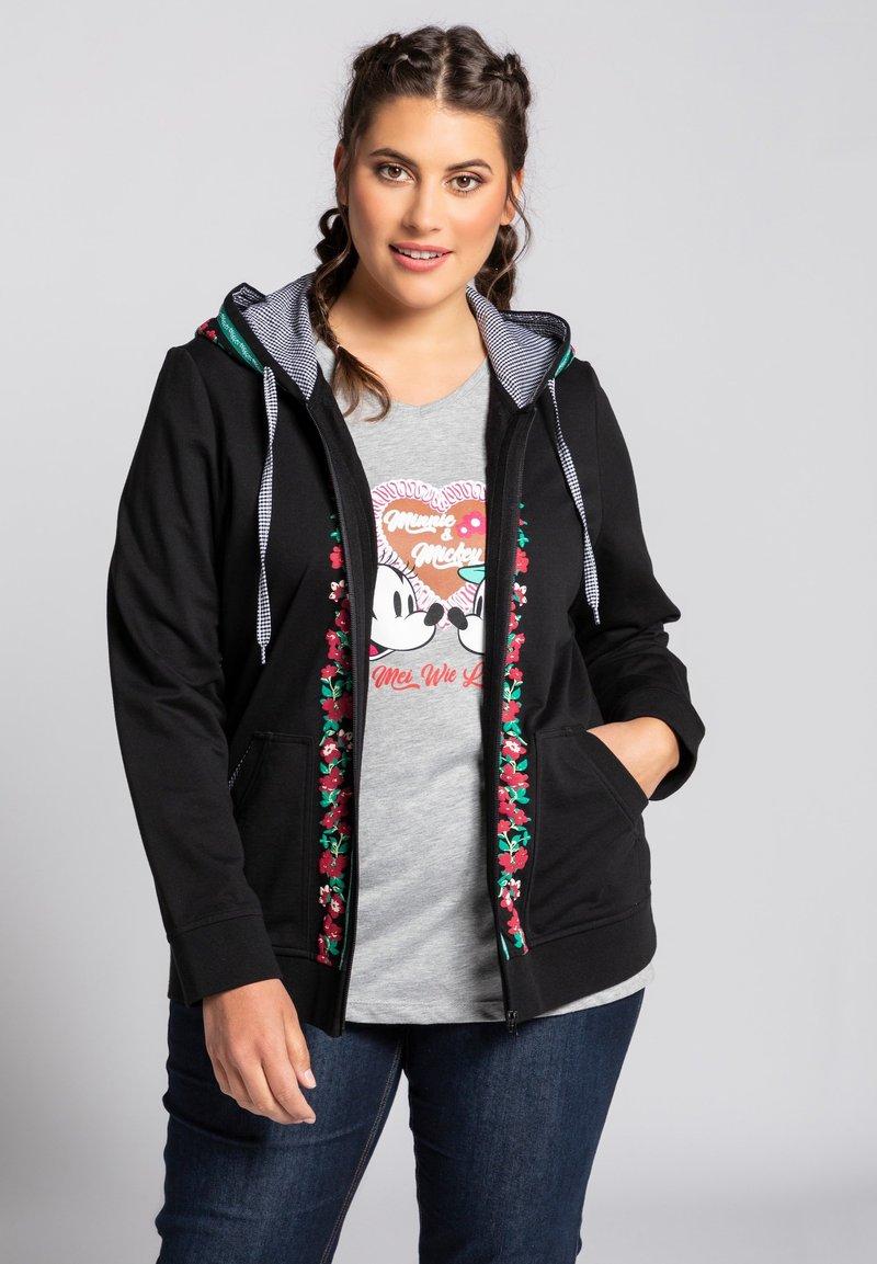 Ulla Popken - Zip-up hoodie - schwarz