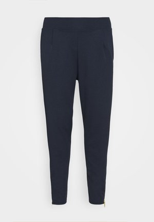 SOFT TAPERED TROUSER WITH STATEMENT ZIP CUFF - Bukse - navy