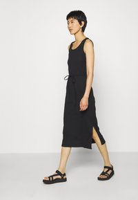 Calvin Klein - TIE WAIST MIDI DRESS - Shift dress - black - 0