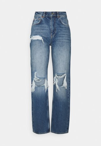 90S HIGH WAIST - Jeans relaxed fit - midnight destroy