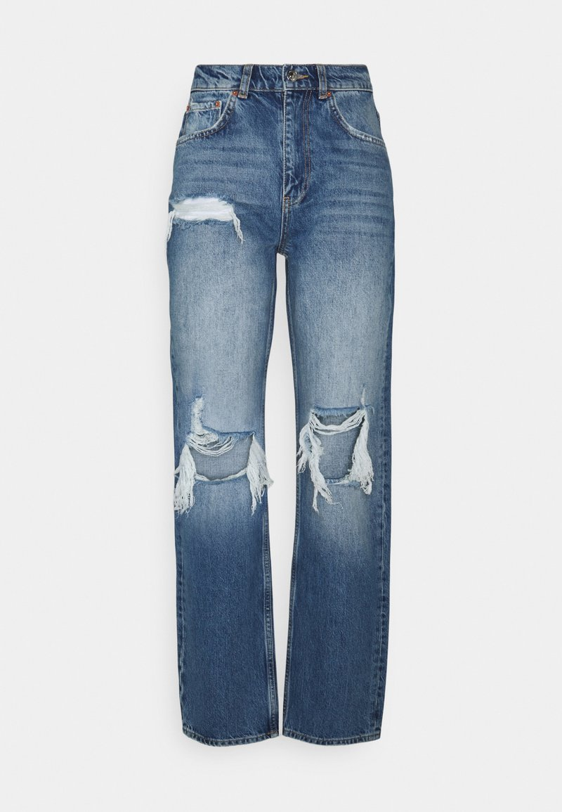 Gina Tricot - 90S HIGH WAIST - Jeans relaxed fit - midnight destroy