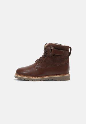 LEATHER - Veterboots - dark brown