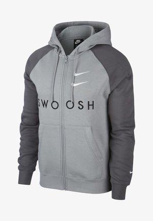 Zip-up hoodie - grey/black/white