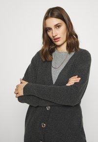Selected Femme - SLFSTACEY KNIT  - Cardigan - dark grey melange - 3
