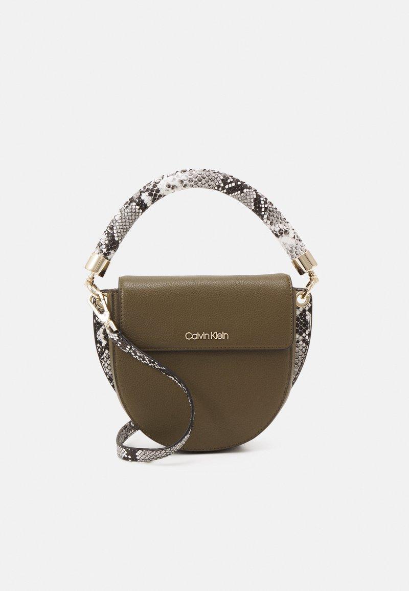 Calvin Klein - SADDLE BAG - Handbag - winter moss