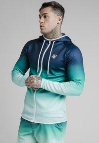 SIKSILK - Zip-up sweatshirt - navy pacific fade - 0