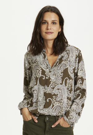 Blouse - grape leaf paisley print
