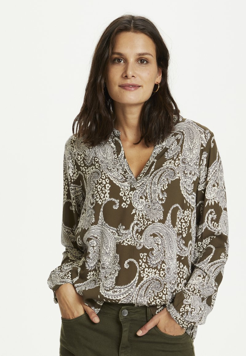 Kaffe - PAISLEY BLOUSE - Blouse - grape leaf paisley print