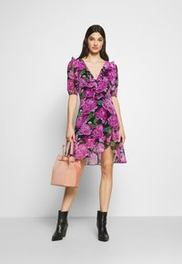 The Kooples - ROBE - Day dress - black/pink - 1