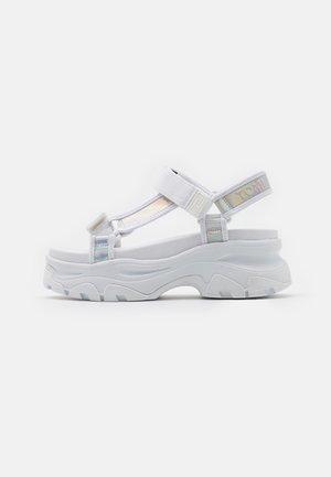 IRIDESCENT HYBRID  - Platform sandals - white