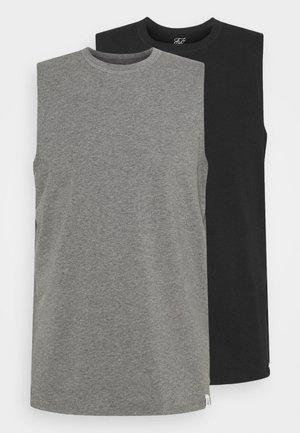 LOUNGE VEST 2 PACK - Haut de pyjama - black/grey marl