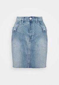 GAP - FOLD OVER SKIRT MALONE - Jupe en jean - blue denim - 3