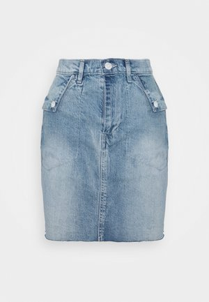 FOLD OVER SKIRT MALONE - Jeansskjørt - blue denim