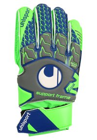 Uhlsport - TENSION SOFT JUNIOR - Goalkeeping gloves - dark grey/fluo green/navy - 1