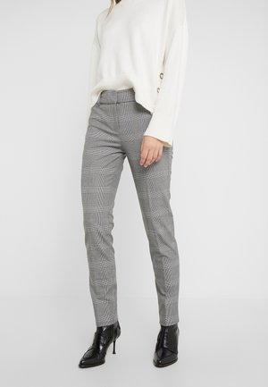 FULL LENGTH CAMERON PANT IN GLEN PLAID - Trousers - black/blue/ivory