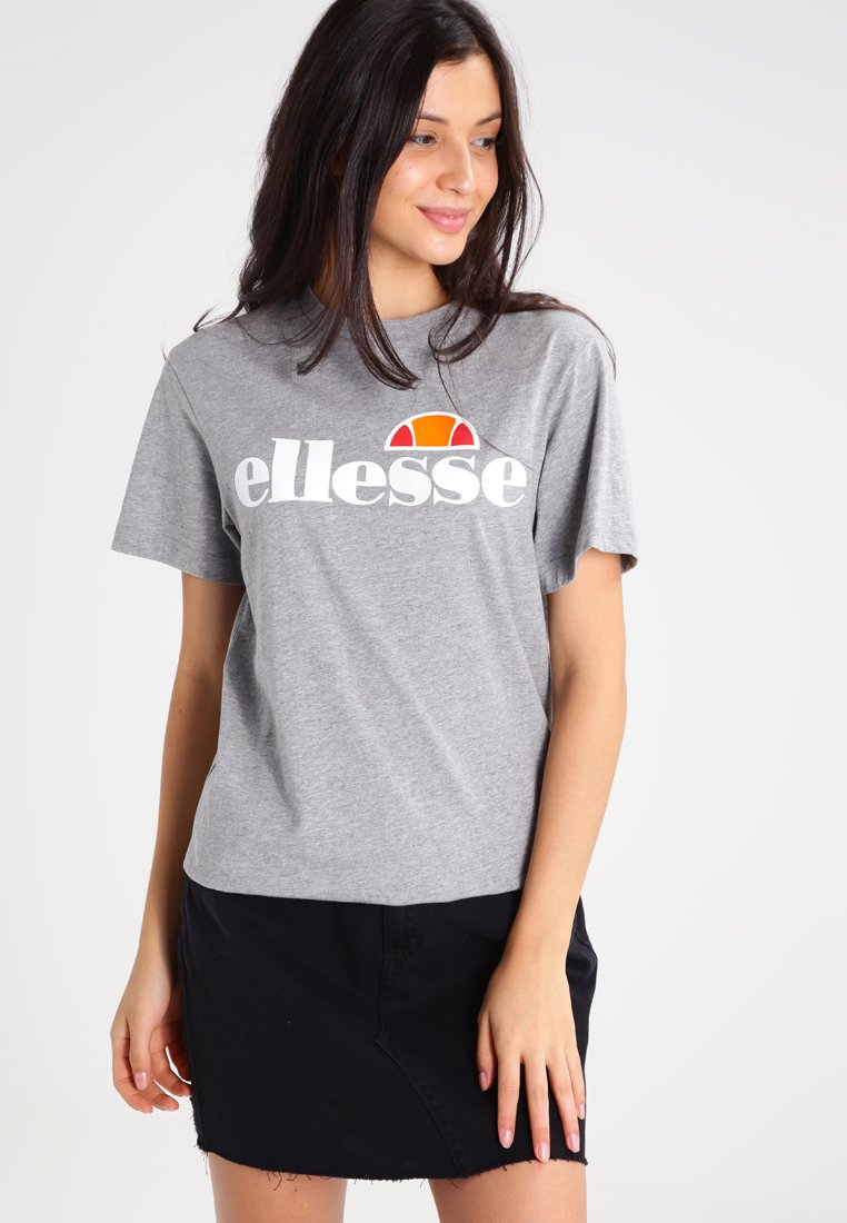 Ellesse - ALBANY - Print T-shirt - ath grey