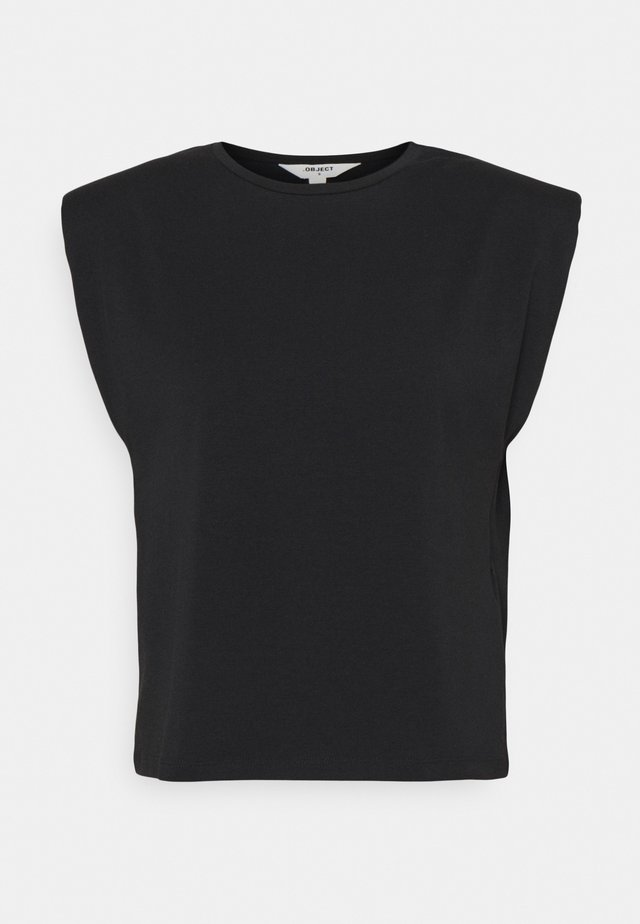 OBJSTEPHANIE JEANETTE - T-shirt print - black