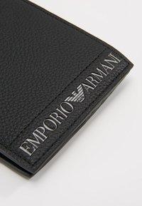 Emporio Armani - FOLD WALLET - Portefeuille - nero - 0