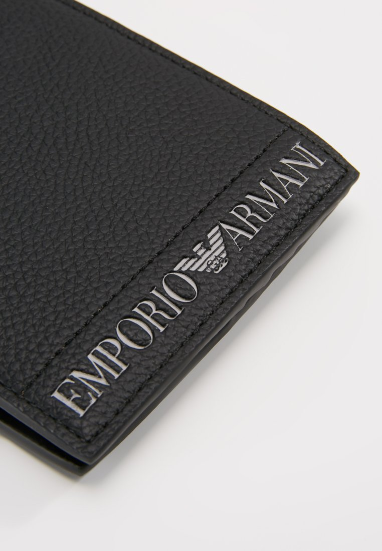 Emporio Armani - FOLD WALLET - Portefeuille - nero