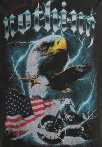 Good For Nothing - OVERSIZED ACID WASH EAGLE UNISEX - Print T-shirt - grey - 2