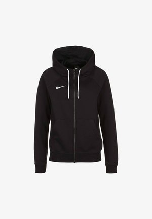 PARK - Zip-up hoodie - black / white