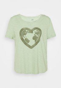 GAP - Print T-shirt - smoke green - 0