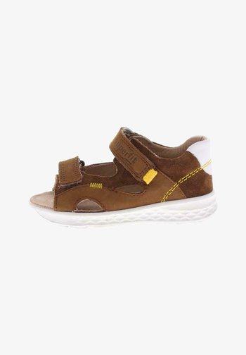 Walking sandals - braun/gelb