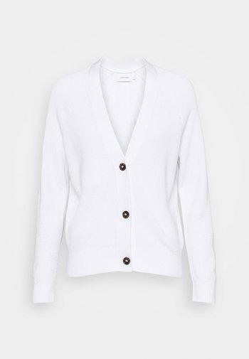 V NECK  - Cardigan - bright white
