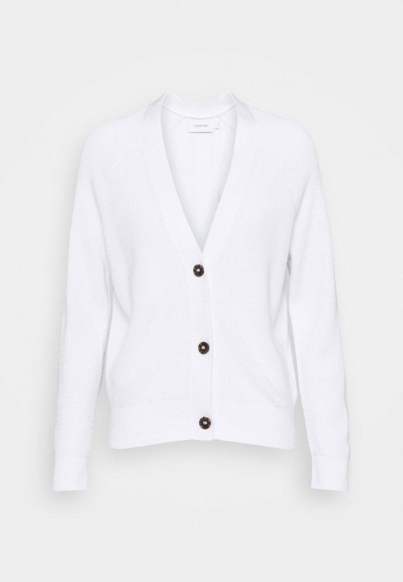 Calvin Klein - V NECK  - Cardigan - bright white