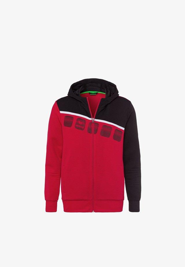Sweatjacke - red/black/white