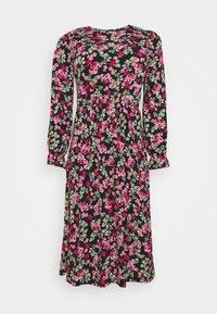 Simply Be - FLORAL MIDI DRESS - Jersey dress - black - 4