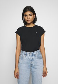 Calvin Klein - TURN UP - T-paita - black - 0