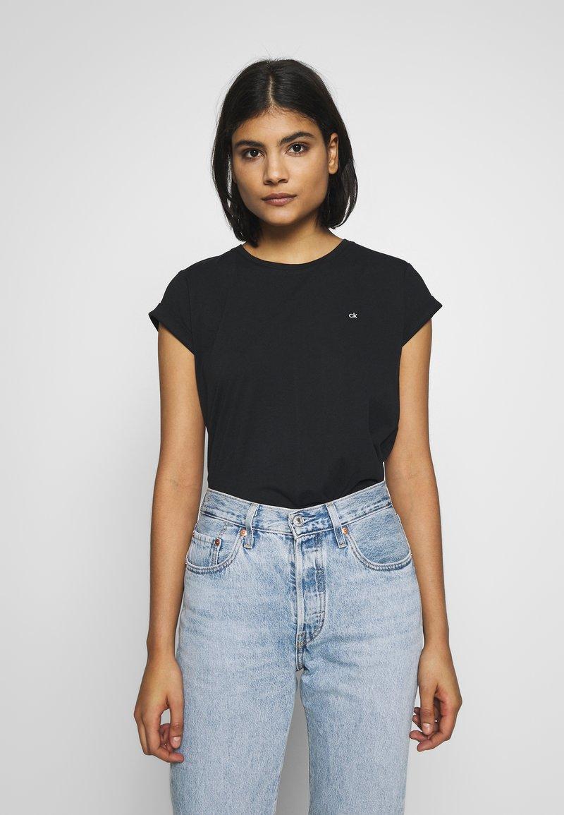Calvin Klein - TURN UP - T-paita - black