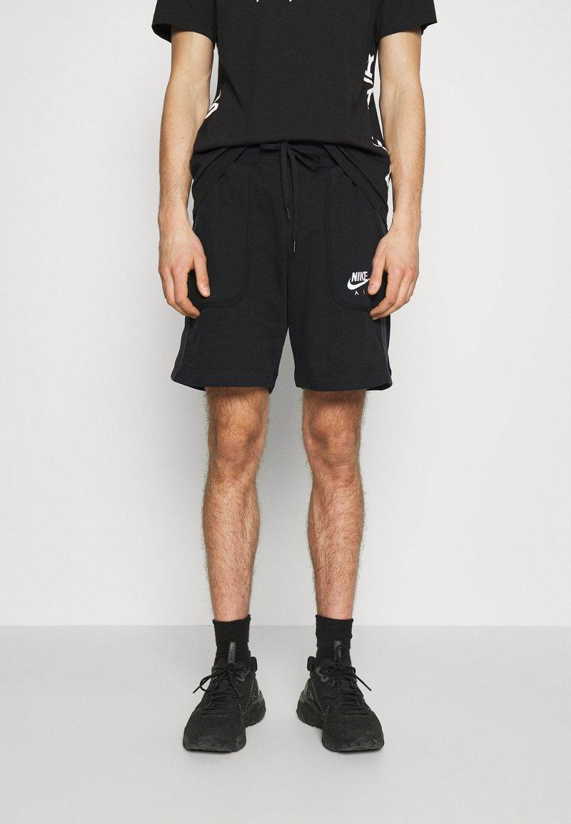 Nike Sportswear - AIR - Pantaloni sportivi - black/dark smoke grey/white
