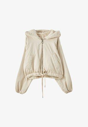 REVERSIBLE-BOMBERJACKE MIT FELL - Bomber Jacket - beige