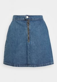 RING PUL SKIRT - Denim skirt - mid blue wash