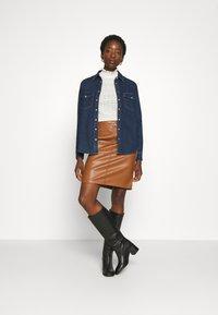 Vila - VIPEN NEW SKIRT - Pencil skirt - oak brown - 1