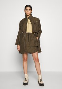 Han Kjøbenhavn - LAYER SKIRT - A-line skirt - dusty brown - 1