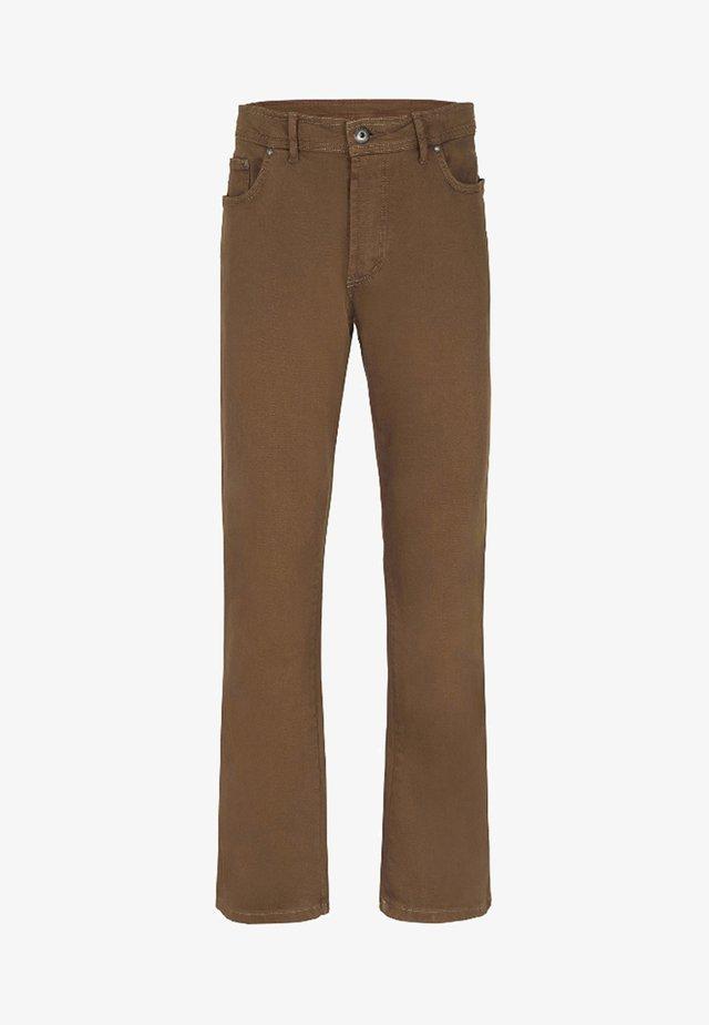 GUNNAR - Straight leg jeans - brown
