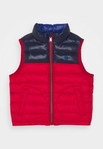 OUTERWEAR VEST - Waistcoat - red/newport navy