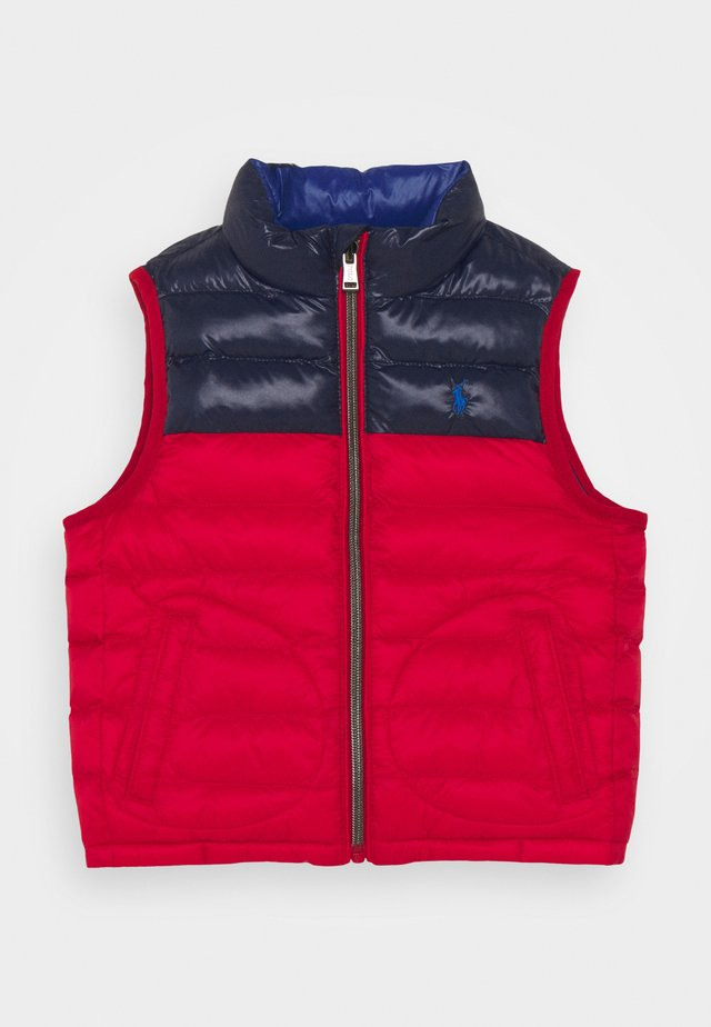 OUTERWEAR VEST - Vesta - red/newport navy