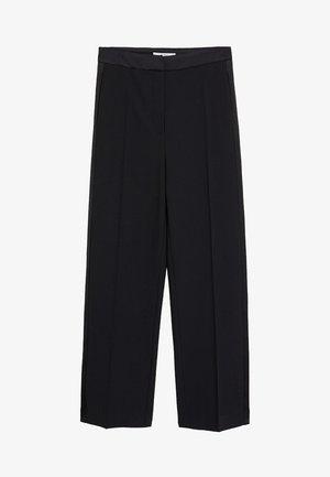 SMOKING - Trousers - black