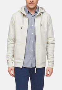 s.Oliver - FELPA - Zip-up sweatshirt - cream - 0
