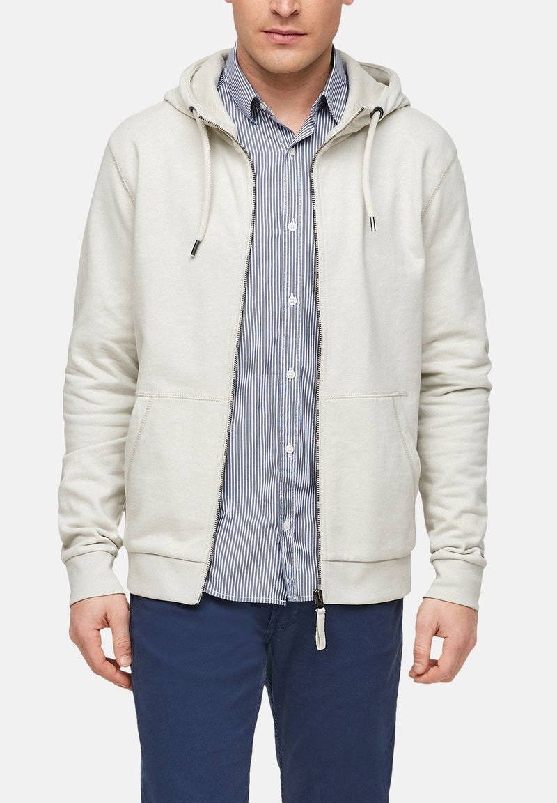 s.Oliver - FELPA - Zip-up sweatshirt - cream