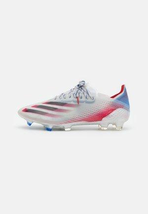 X GHOSTED.1 FG - Voetbalschoenen met kunststof noppen - silver metallic/core black/scarlet