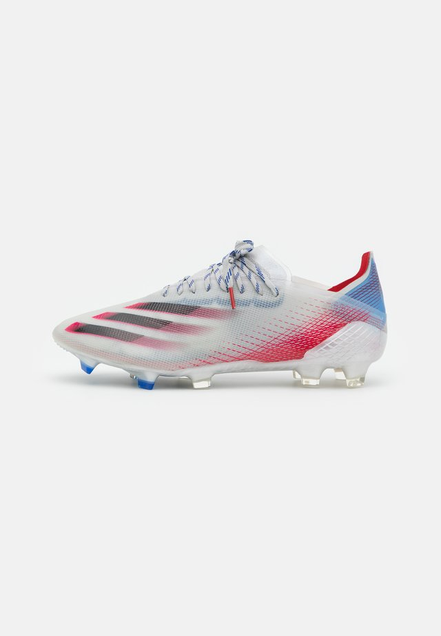 X GHOSTED.1 FG - Moulded stud football boots - silver metallic/core black/scarlet