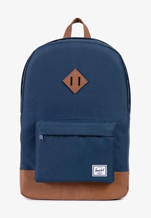 Rucksack - navy/tan synthetic leather