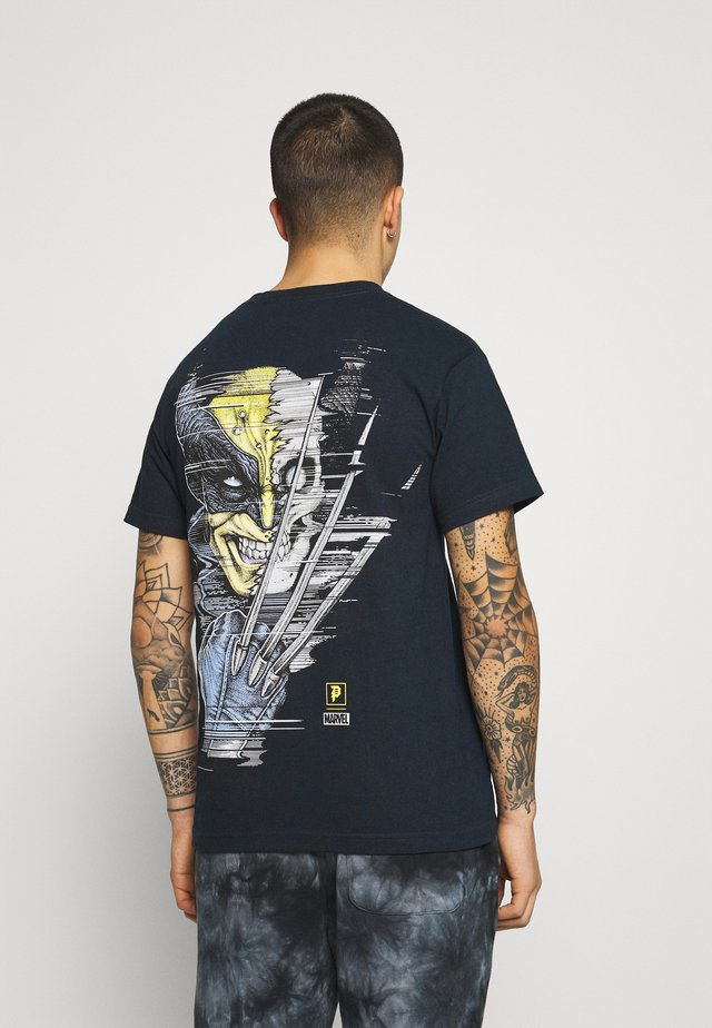 WOLVERINE TEE - T-shirt print - navy
