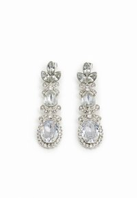Pieces - PCJIDI EARRINGS - Kolczyki - silver-coloured/clear - 0
